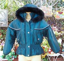 EXPRESSION GIRLS SIZE 10-12 WINTER SNOW JACKET THICK LINING WITH HOOD EXCELLENT+