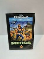 Mercs W/Manuals, complete. .Sega Genesis. Authentic and tested.  Free shipping.
