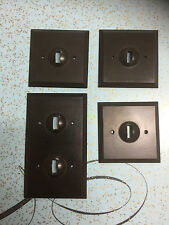 vintage retro bakelite mk switch plates job lot 3 single 1 double
