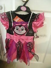 M&s Robe Fantaisie Filles Halloween Chat Sorcières Dressing Up Costume âge 12-24 mois neuf