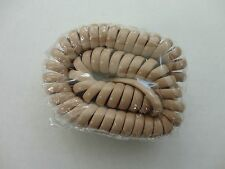 Lot of 10, 12 Foot Modular Coiled Handset Cord, Beige