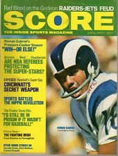1971 (Jan.) Score Football magazine, Roman Gabriel, Los Angeles Rams ~ Good