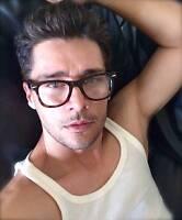 Nerd Geek Clear Lenses Eyeglasses Gradient Brown Ombre Frame Men Women Glasses