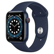 Apple Watch Series 6 - 44mm - Blue Case, Navy Sport Band (GPS + Cellular)