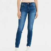 American Eagle Outfitters Skinny Jeans Mid Rise Medium Wash Denim Womens Size 0