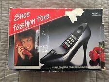 Shoe Telephone1987 By Shoe Fashion Fone Black High Heel Shoe Phone Retro