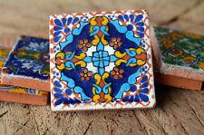 """25 pieces Mexican tiles mixed 2""""x2"""" handmade !!"""