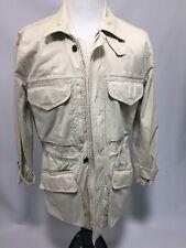Banana Republic Men's Field Safari Jacket Beige Lightweight S Vintage Cotton