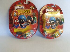 Spin Master Marvel Super Heroes Mighty Beanz 2004 Series Two - New and Sealed