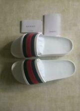 Women's Gucci White slides - Rubber Flip Flops / Sandals / Slippers EU-39