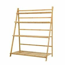 Artiss BAM-B-LAD05-NT Bamboo Wooden Foldable Ladder Shelf Plant Stand