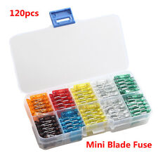 120Pcs Mix Car Mini Standard Blade Fuse 7.5 10 15 20 25 30 Amp ATM APM Fuses Kit