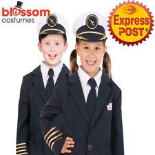 AC273 Qantas Pilot Hat Uniform Airline Flight Child Kids Boys Girls Costume
