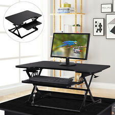 Ergonomic Height Adjustable Standing Desk Sit Stand Desk Desk Top Desk Riser BLK