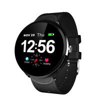 Lemfo V12 Noir Montre Intelligente Homme Cardiofréquencemètre Pour Huawei Xiaomi