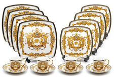 Royalty Porcelain 75-pc Luxury White, Greek Key Dinner Banquet Sushi Set Medusa