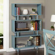 Retro Bookshelf Bookcase Mid Century Vintage Style Book Shelves Modern Display