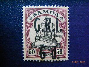 Samoa brit.Besetzung - Nr.8 , ungestempelt mit Falzrest