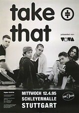 Original Konzertplakat  Take That 1995   Stuttgart Schleyerhalle