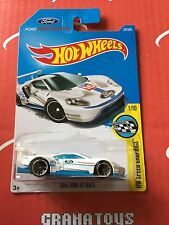 2016 Ford GT Race #247 White 2017 Hot Wheels Case L