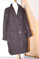 Magnifique Manteau LILITH créateur en laine, Mohair & alpaga Taille 40 M Sublime