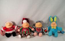 4 Ziggy Plush Lot,Christmas Pj's Santa, Prisoner Of Love, Easter Bunny Hug Ziggy