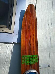 "Vintage O'Brien Competition 64"" Wood Slalom Water Ski w CASE"