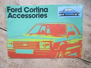 FORD CORTINA ACCESSORIES BROCHURE PRINTED 1979 GENUINE FORD