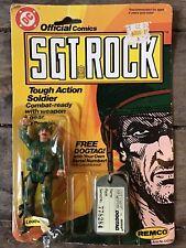 1981 REMCO Vintage DC Comics SGT ROCK Leatherneck Action Figure ORIGINAL CARD