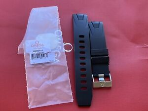 Authentic Omega Seamaster Planet Ocean 98000144 Rubber Strap 20mm