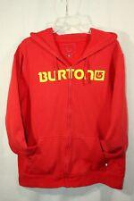 Burton Snowboard Zip Up Hoodie Mens Large Red