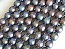 11x13-14mm Peacock Large Hole Half Strand Freshwater Pearl Beads Hole 2.2mm #732