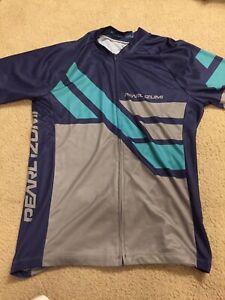 *BRAND NEW* Men Pearl Izumi MTB LTD Cycling Full Zip Jersey Gray/Blue Sz Large