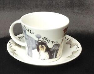 2002 Roy Kirkham Dogs Walkies Large Breakfast Mug and Saucer Woof Bone China