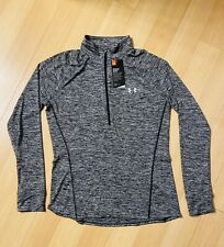 Under Armour Mens Half Zip Pullover Gray Size L Fitted Nwt