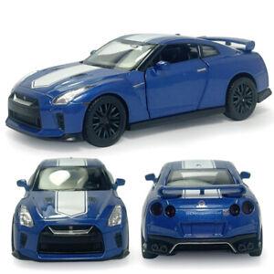 1/42 Nissan GT-R (R35) V6 Sports Car Model Diecast Toy Vehicle Kids Gift Blue