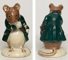 "Green Jacket - Royal Albert Beatrix Potter Figurine ""Gentleman Mouse Made A Bow"""