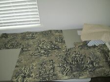 Waverly Teastain Sage Black French Country Pastoral Toile Life Fabric Discontind