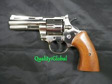 RICK GRIMES CHROME ITALY WOOD&METAL 357 MAGNUM MOVIE PROP Pistol Replica Gun