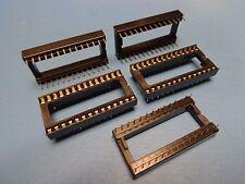 (5) PRECICONTACT LTO628TBB 28 pin DIP 600 mil tin lead Open Frame IC Socket