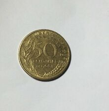 50 centimes LAGRIFFOUL 1963 col 4 plis Num7