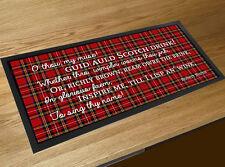 Scotch Drink poem Burns night quote Scottish Whisky Tartan bar runner mat