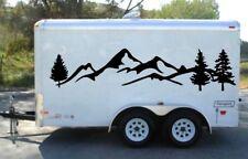 MOUNT TREE Trailer graphics decor camper decal RV vinyl van motor home tr3