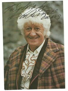 Jon Pertwee. Actor. Genuine Signed Doctor Who Postcard