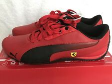 MEN'S FERRARI PUMA DRIFT CAT 5 SF ROSSO CORSA PUMA BLACK SHOES SIZE 8