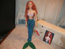 """OOAK REPAINT """"ARIEL"""" MERMAID by SASHABLEU WITH CERTIFICATE OF AUTHENTICITY"""
