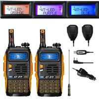 DE 2× Baofeng GT-3 TP Mark III +2×Speaker +Cabel 8W Emisora Transceptor Radio