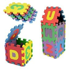 4.5*4.5cm Puzzle Kid Educational Toy A-Z Alphabet Letters Numeral Foam Mat 36pcs