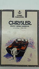 Clymer Publications No B655 Chrysler Marine 3.5to20 HP 1966-1979 Repair Handbook