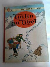 Album de TINTIN  au Tibet B29 de 60/61 EO Belge en état moyen